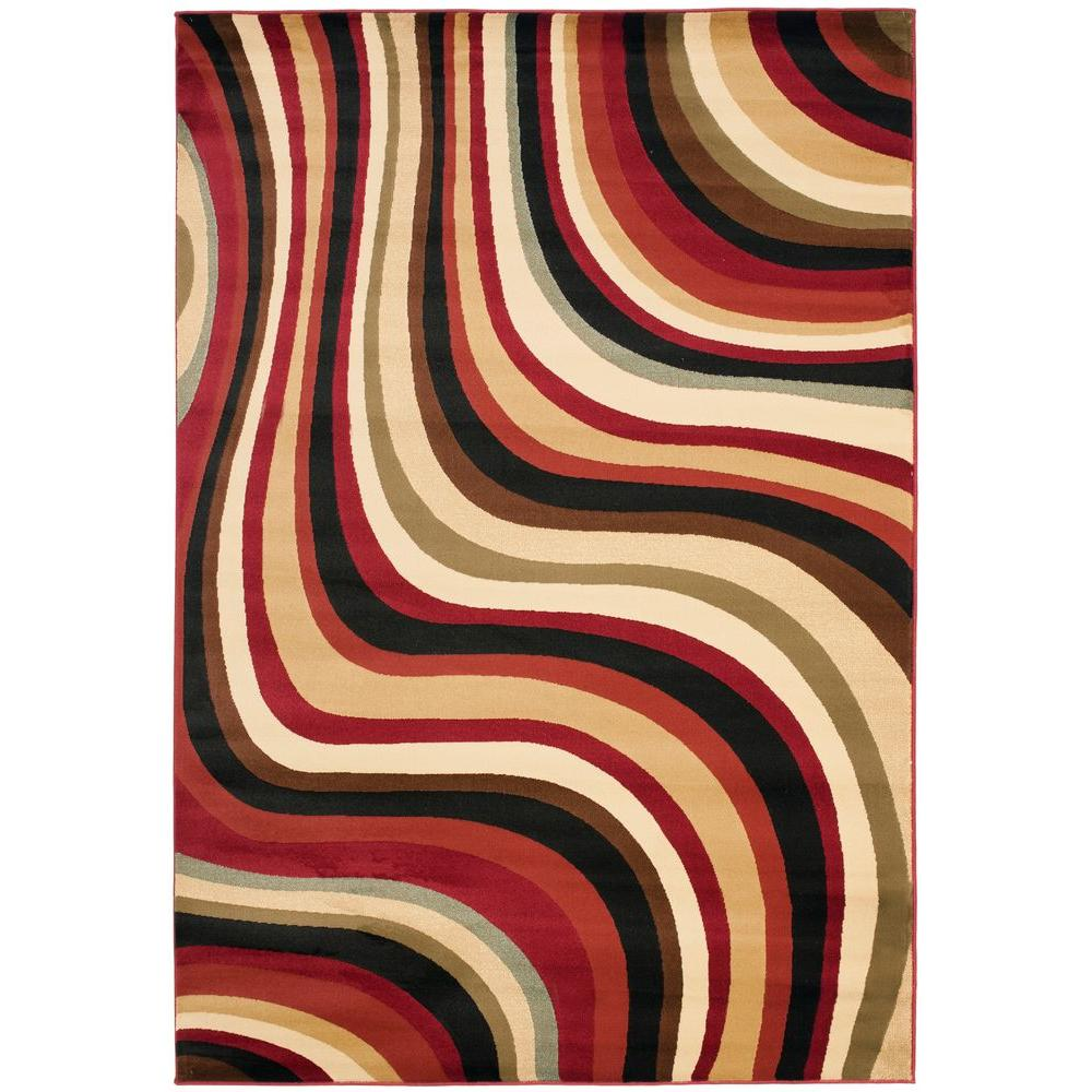 Safavieh Porcello Red/Multi 4 ft. x 5 ft. 7 in. Area Rug