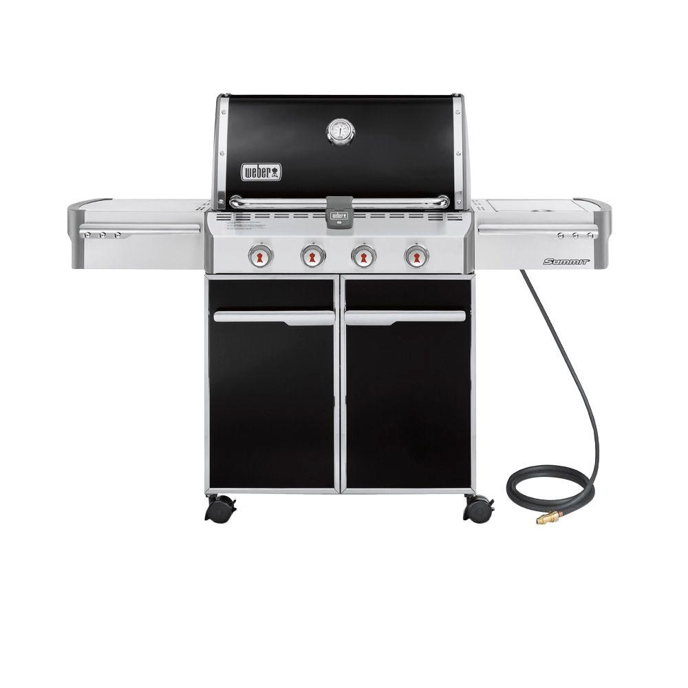 Weber Summit E-420 4-Burner Natural Gas Grill in Black-7221001 - The