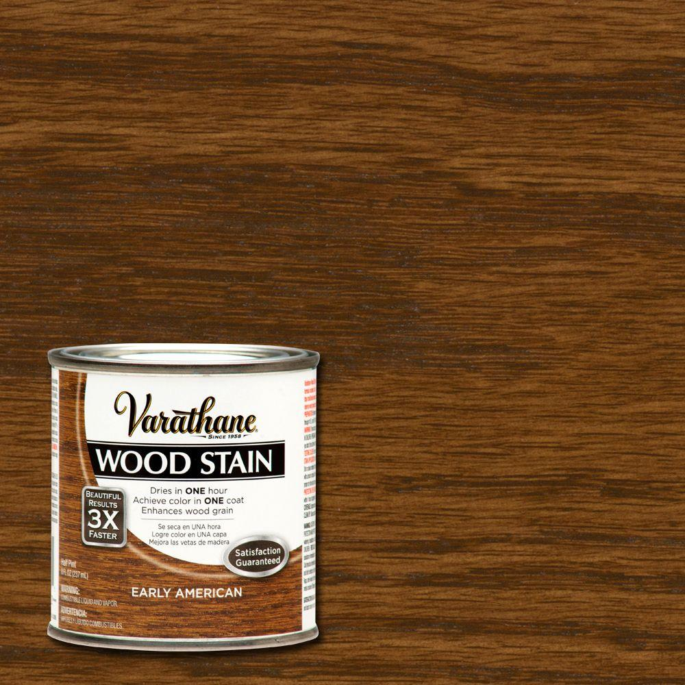 Varathane 1/2 pt. Early American Wood Stain-266196 - The Home Depot