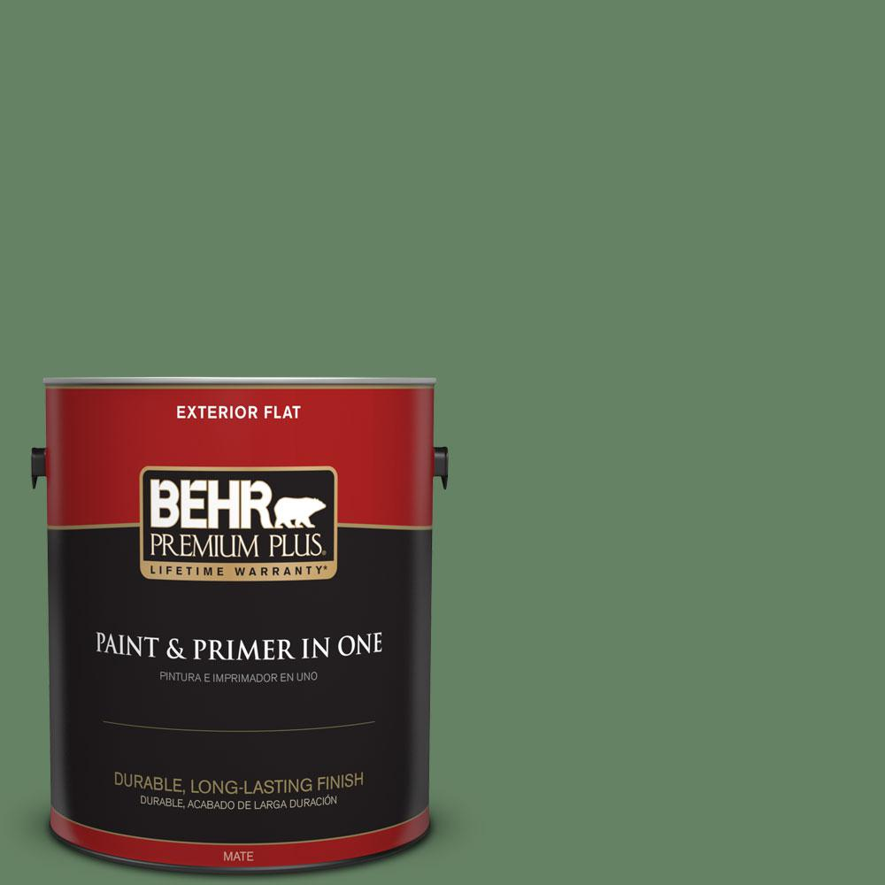 1-gal. #S400-6 Tuscan Herbs Flat Exterior Paint