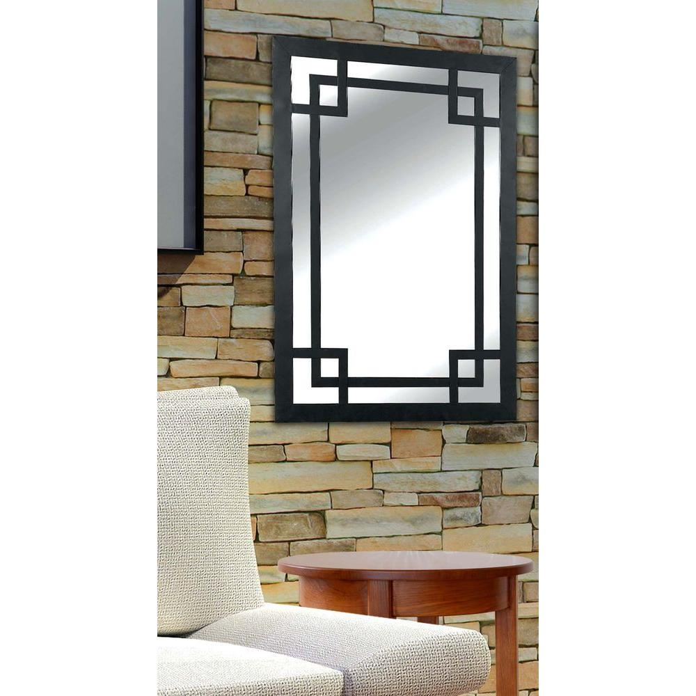 Home Decorators Collection Jacob 42 in. H x 28 in. W Metal Framed Mirror