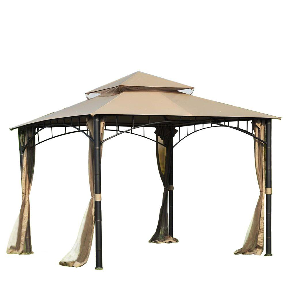 Sunjoy Marla 10 ft. x 10 ft. Steel Gazebo-L-GZ136PST-9 - The