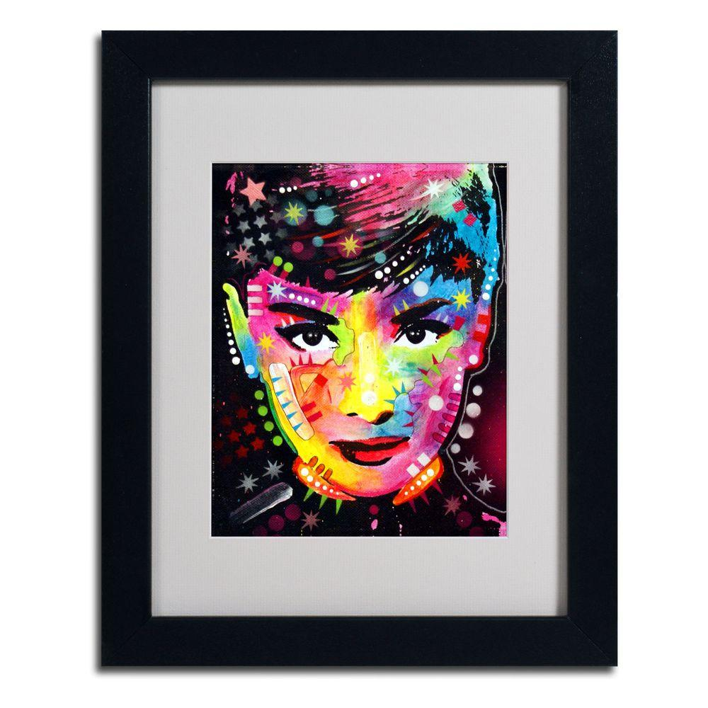Trademark Fine Art 11 in. x 14 in. Audrey Matted Black Framed Wall Art