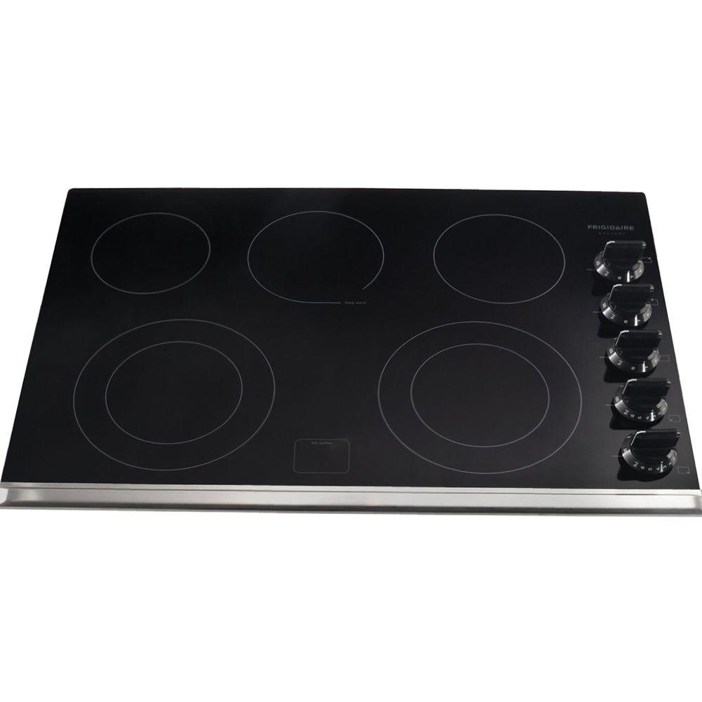 30 in. Ceramic Glass Electric Cooktop in Black with 5 Elements