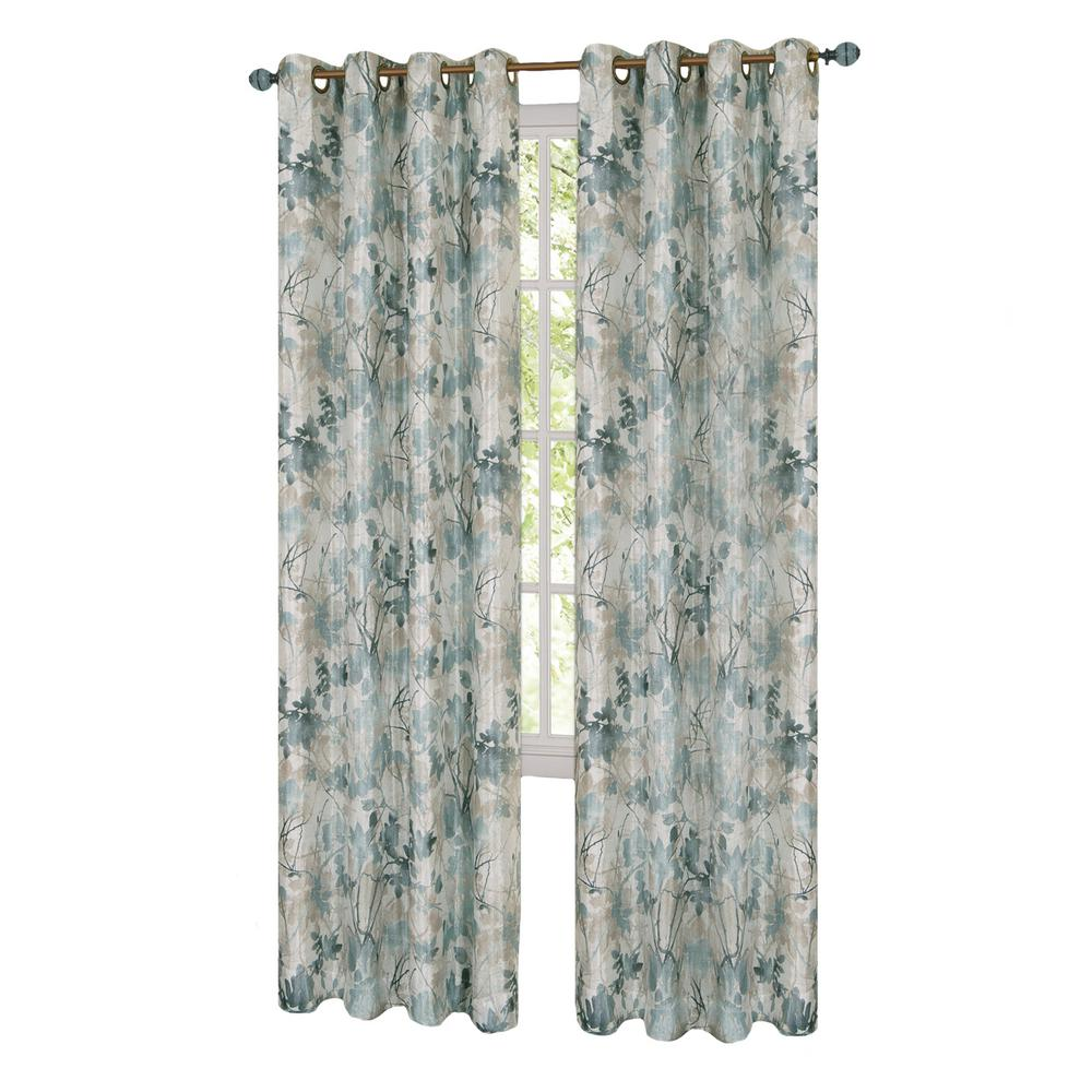 Peach curtains drapes - L Grommet Window Curtain Panel In Mist Lined