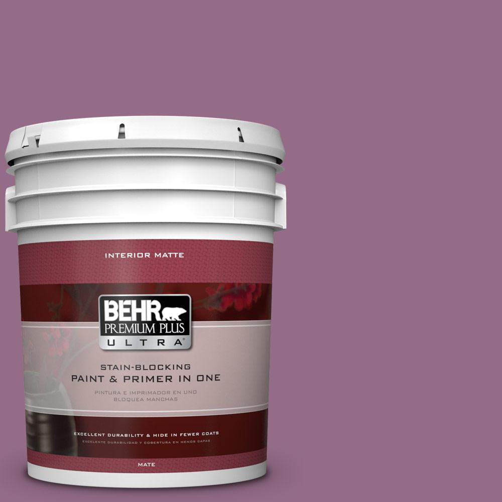 BEHR Premium Plus Ultra 5 gal. #M110-6 Sophisticated Lilac Matte Interior