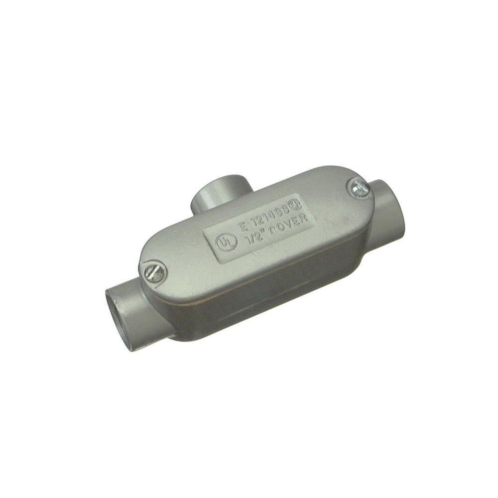 null 1/2 in. Rigid Type T Threaded Conduit Body with Cover and Gasket