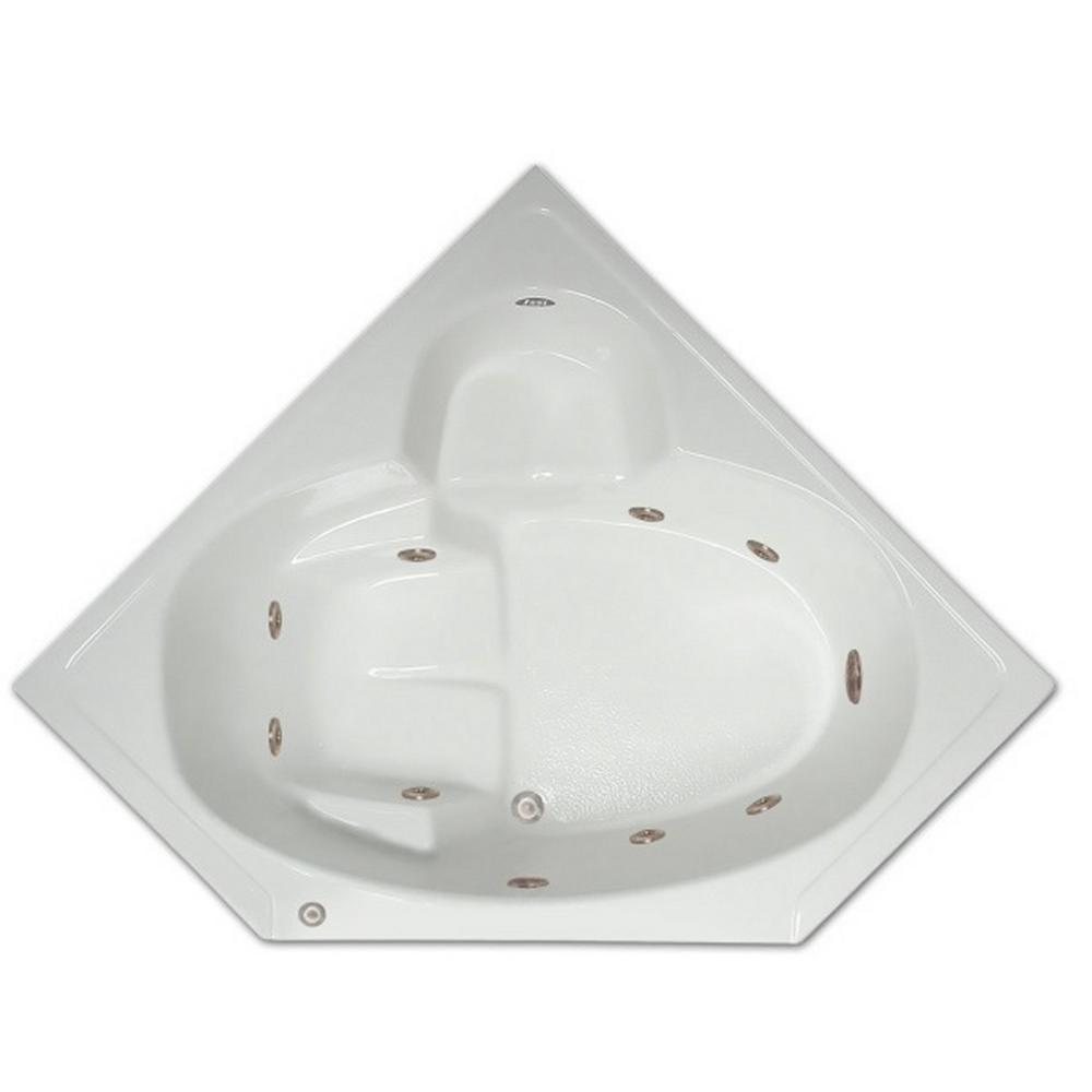 ft corner drop in whirlpool tub in white lpi305 w rsp the home