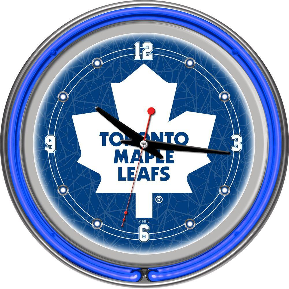 Trademark 14 in. Toronto Maple Leafs NHL Neon Wall Clock