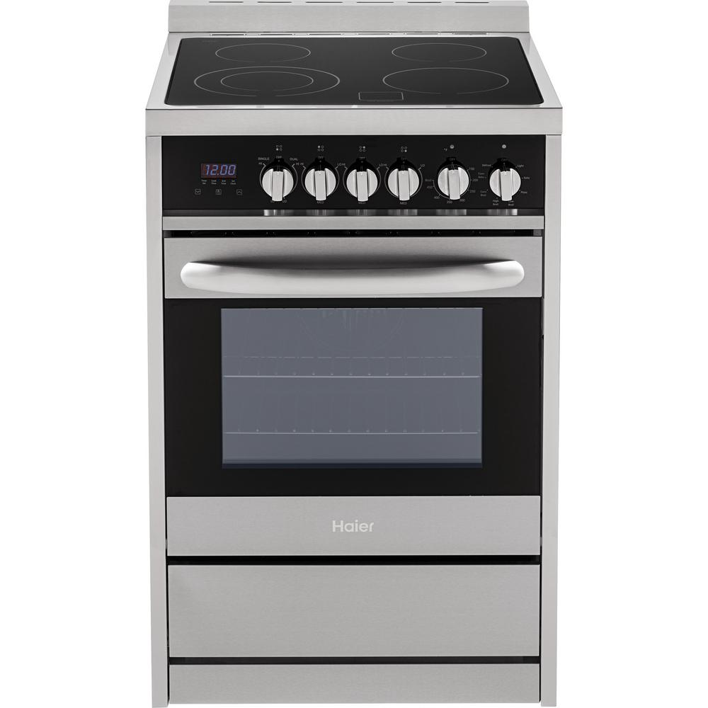 24 in. 2.0 cu. ft. Single Oven Electric Range in Stainless