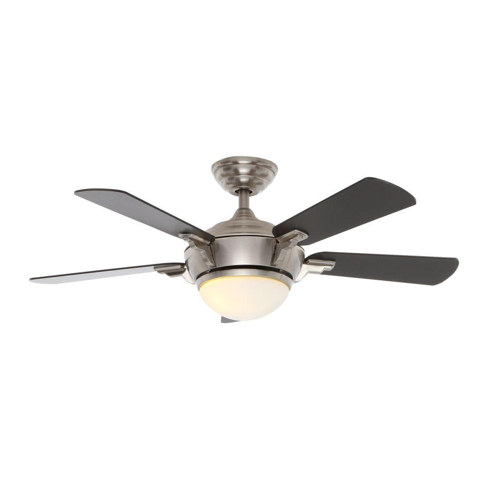 Hampton Bay Midili 44 in. Brushed Nickel Indoor Ceiling Fan