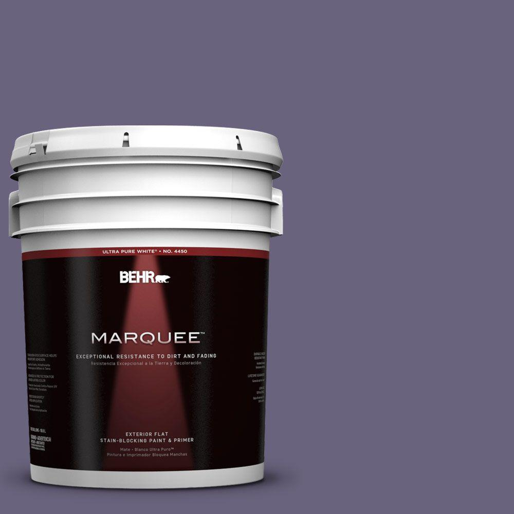 BEHR MARQUEE 5-gal. #650F-6 Victorian Iris Flat Exterior Paint