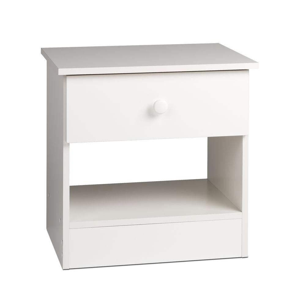 Prepac Edenvale 1-Drawer Nightstand in White
