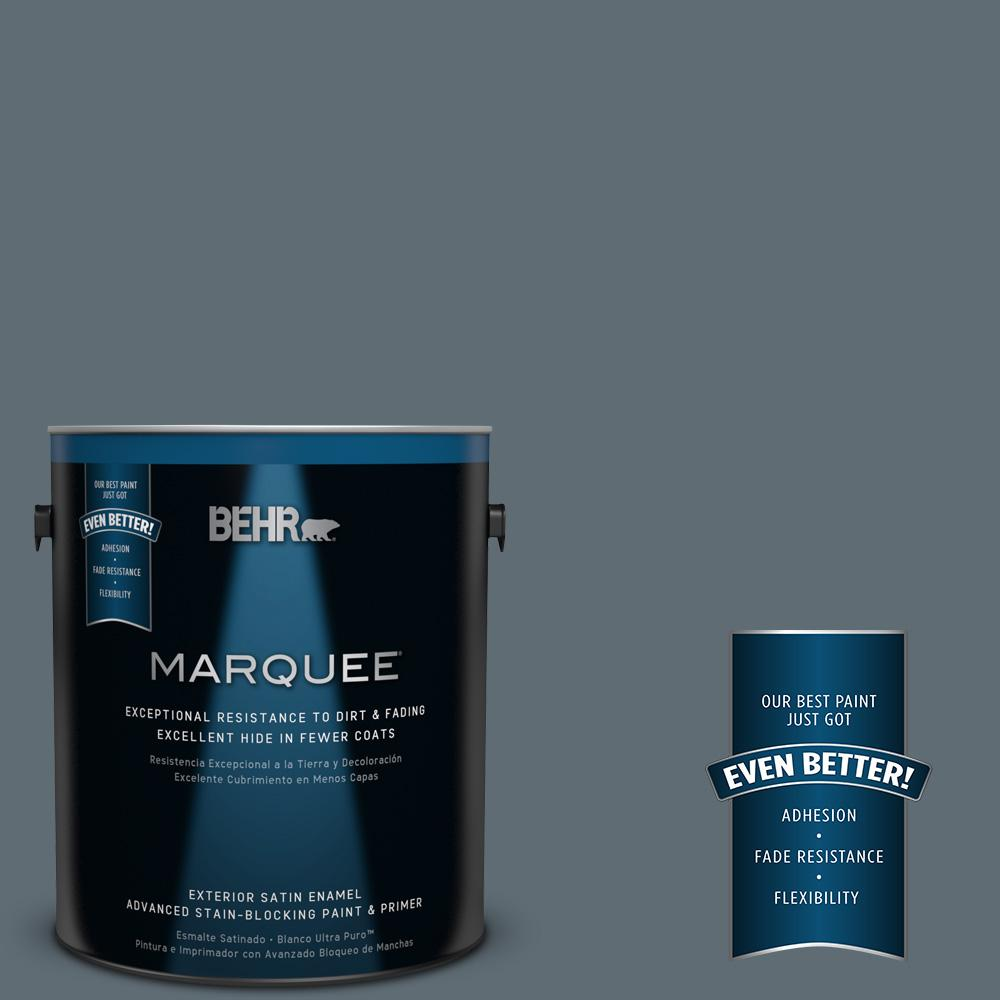 BEHR MARQUEE 1 gal. #PPU26-22 Summer Storm Satin Enamel Exterior Paint-945301