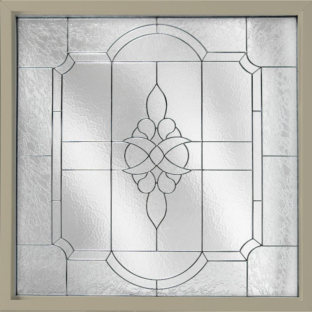 Hy-Lite 47.5 in. x 47.5 in. Decorative Glass Fixed Vinyl Windows