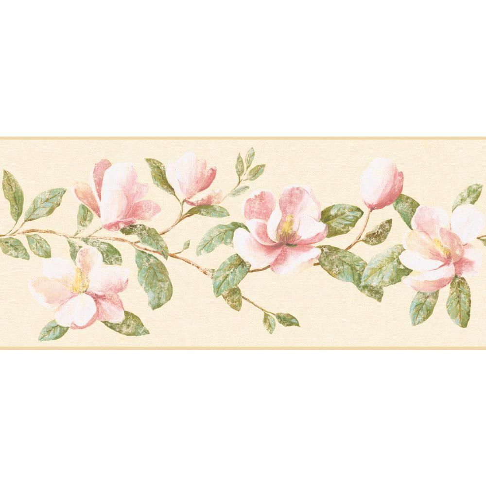 York Wallcoverings Inspired By Color Magnolia Wallpaper Border