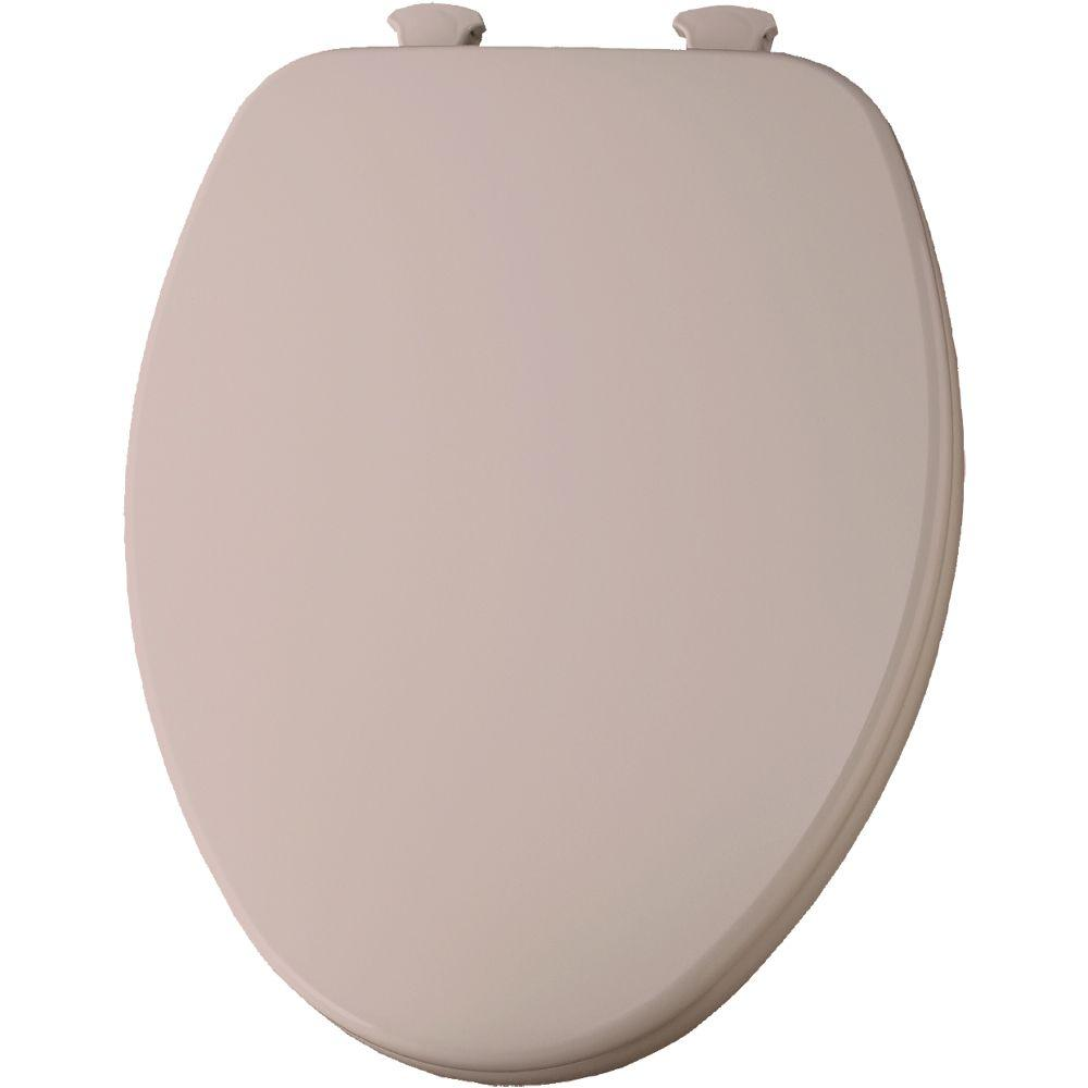 Church Lift-Off Elongated Closed Front Toilet Seat in Venetian Pink-585EC 063