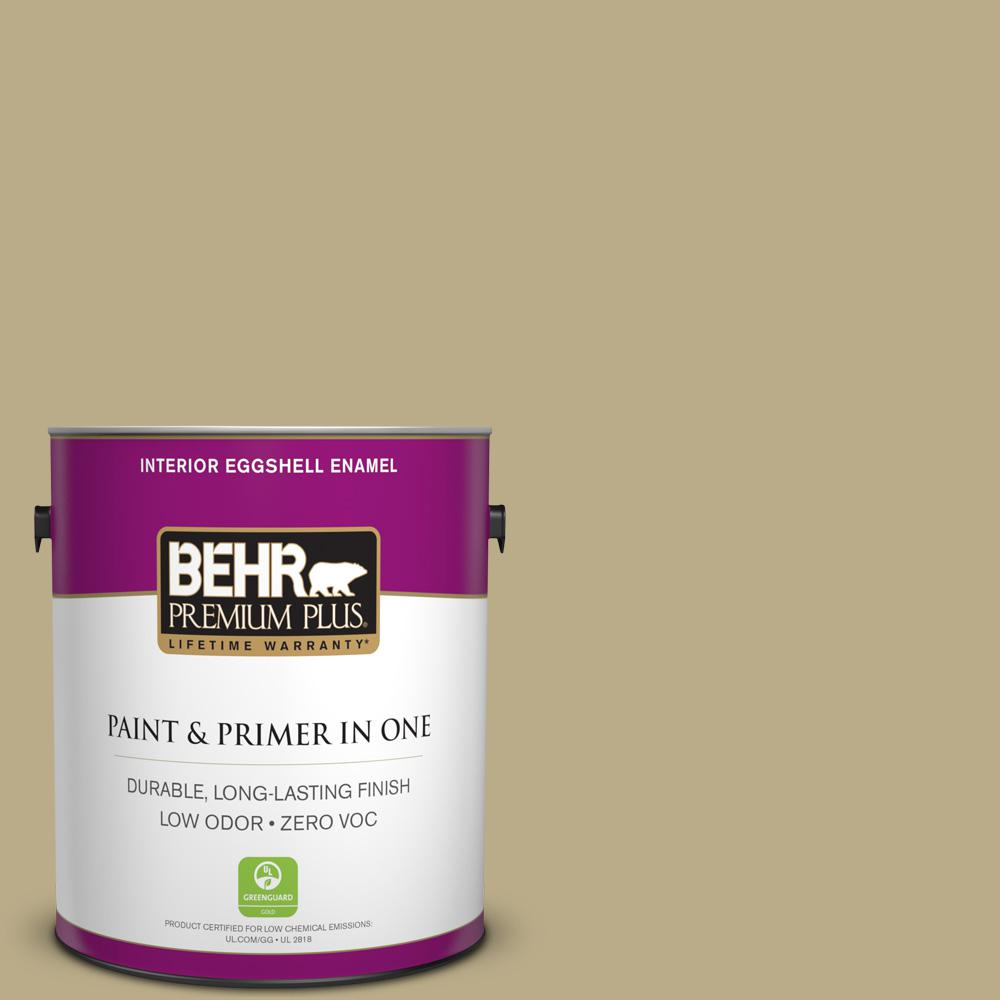 1-gal. #S330-4 Fennell Seed Eggshell Enamel Interior Paint