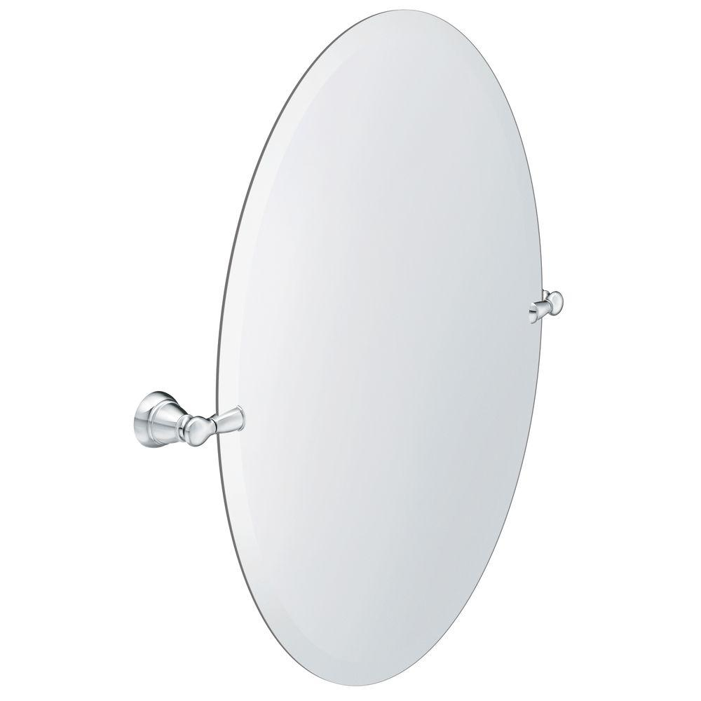MOEN Banbury 22.95 in. x 26 in. Frameless Pivoting Single Wall Mirror in Chrome