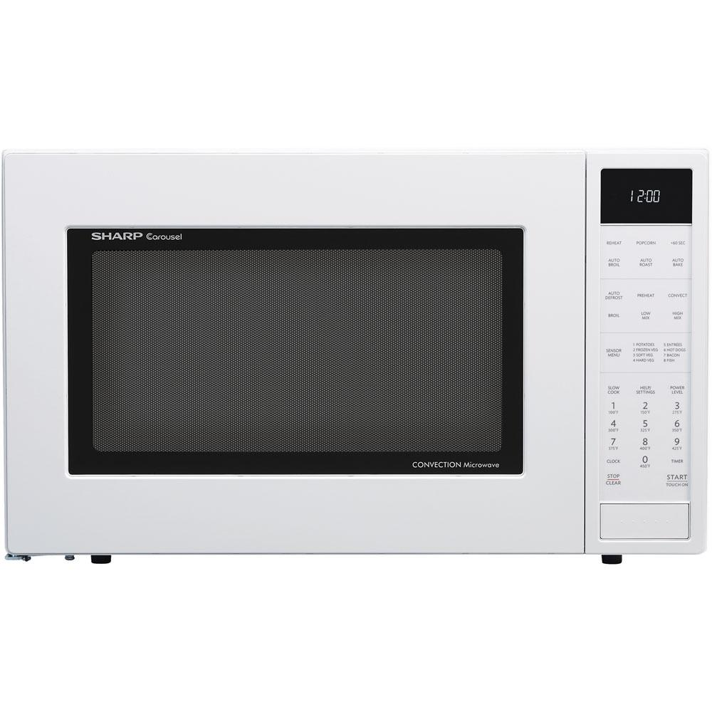 1.5 cu. ft. Countertop Convection Microwave in White, Built-In Capable with