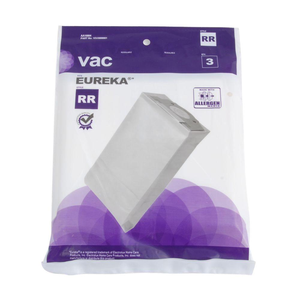 Vac Eureka Type RR Allergen Bags (3-Pack)-AA10004 - The Home Depot