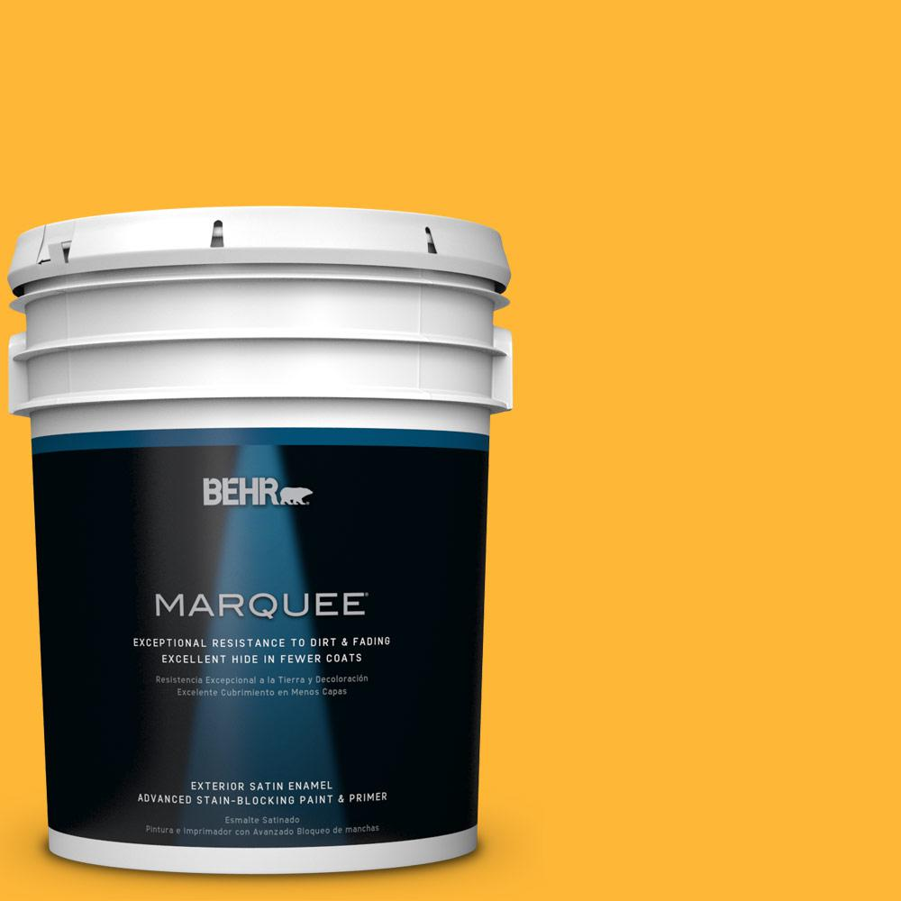 BEHR MARQUEE 5-gal. #P270-6 Soft Boiled Satin Enamel Exterior Paint-945305 -