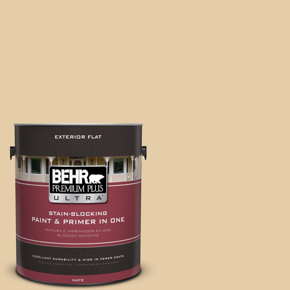 BEHR Premium Plus Ultra 1 gal. #UL150-6 Dried Plantain Flat Exterior Paint
