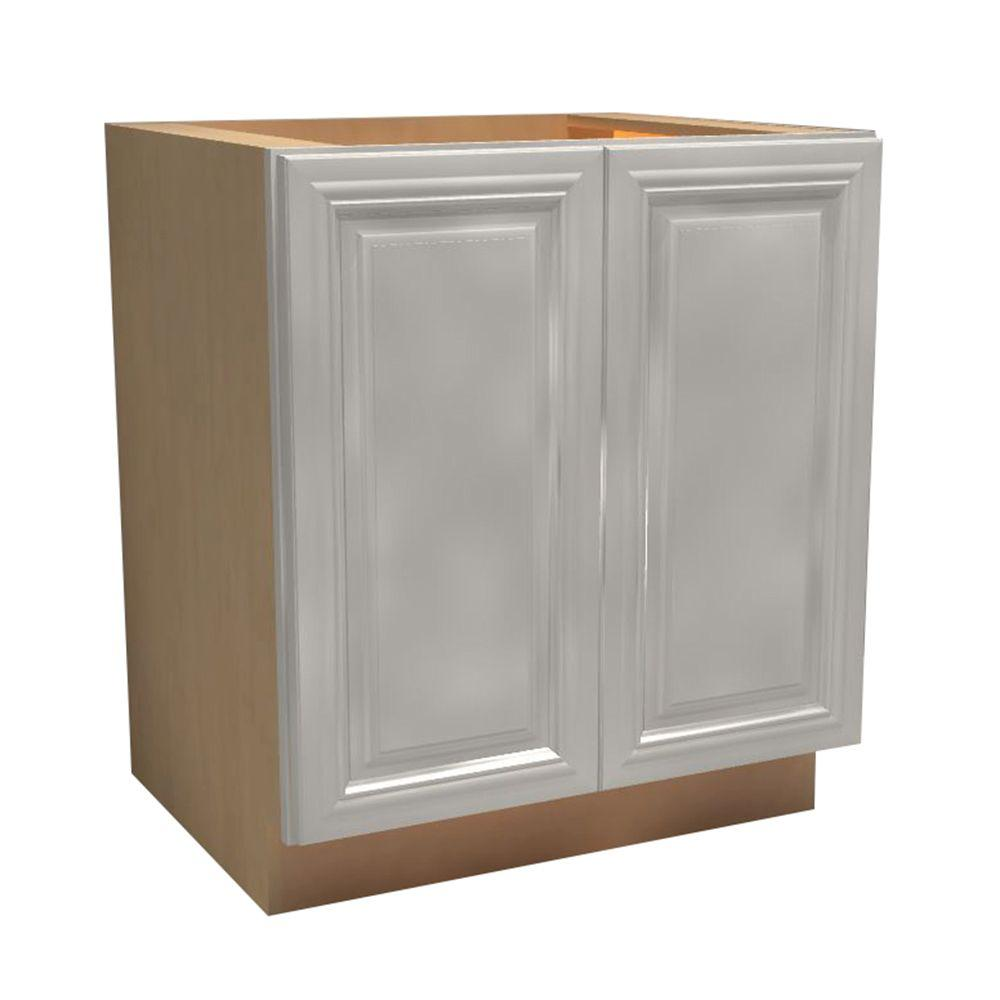 Home Decorators Collection 24x34.5x21 in. Coventry Assembled Vanity Base with 2 Full Height Doors in Pacific White