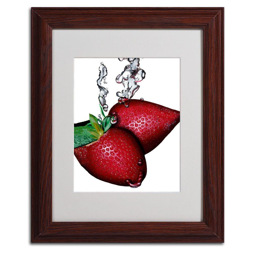 null 11 in. x 14 in. Strawberry Splash II Framed Matted Art