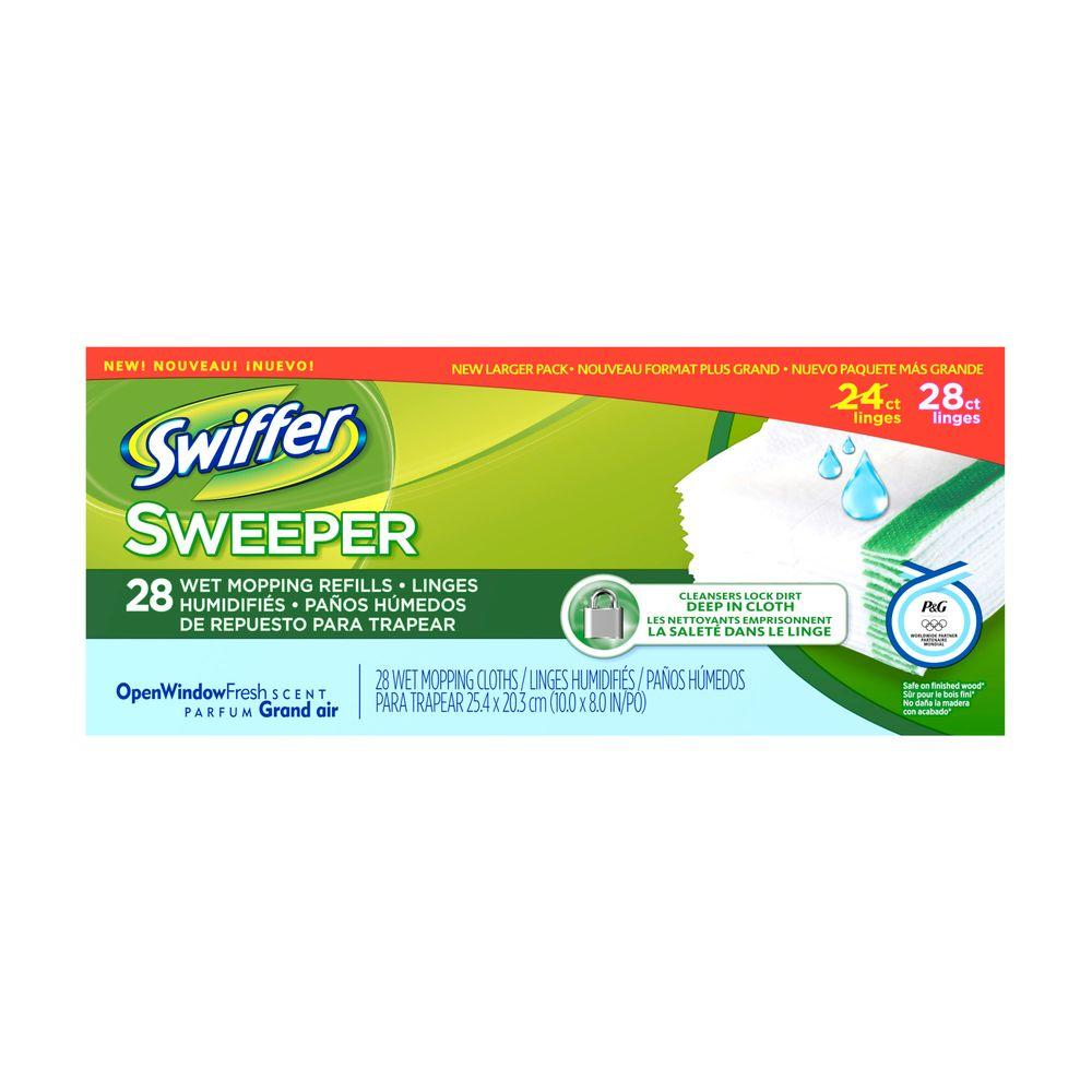 Swiffer Sweeper Wet Cloth Refills with Open Window Fresh Scent (28-Pack)