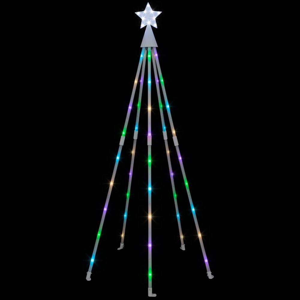 APPLights 70 in. Multi-Color KD Lighted Tech Tree-39914 ...