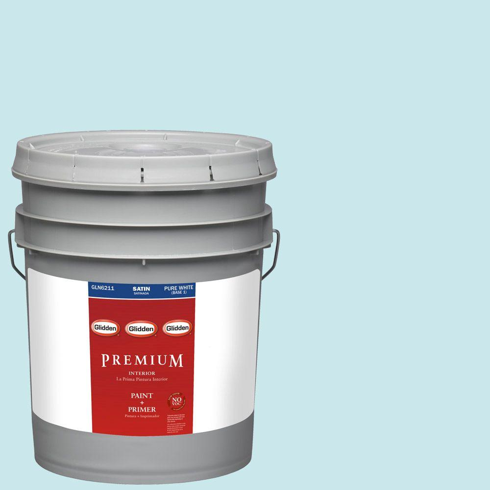 5-gal. #HDGB31 Winterscape Blue Satin Latex Interior Paint with Primer