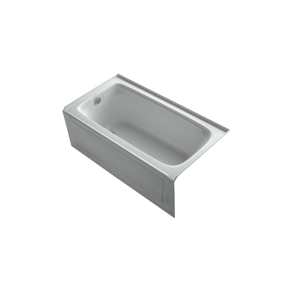 KOHLER Bancroft 5 ft. Whirlpool Tub in Ice Grey-DISCONTINUED