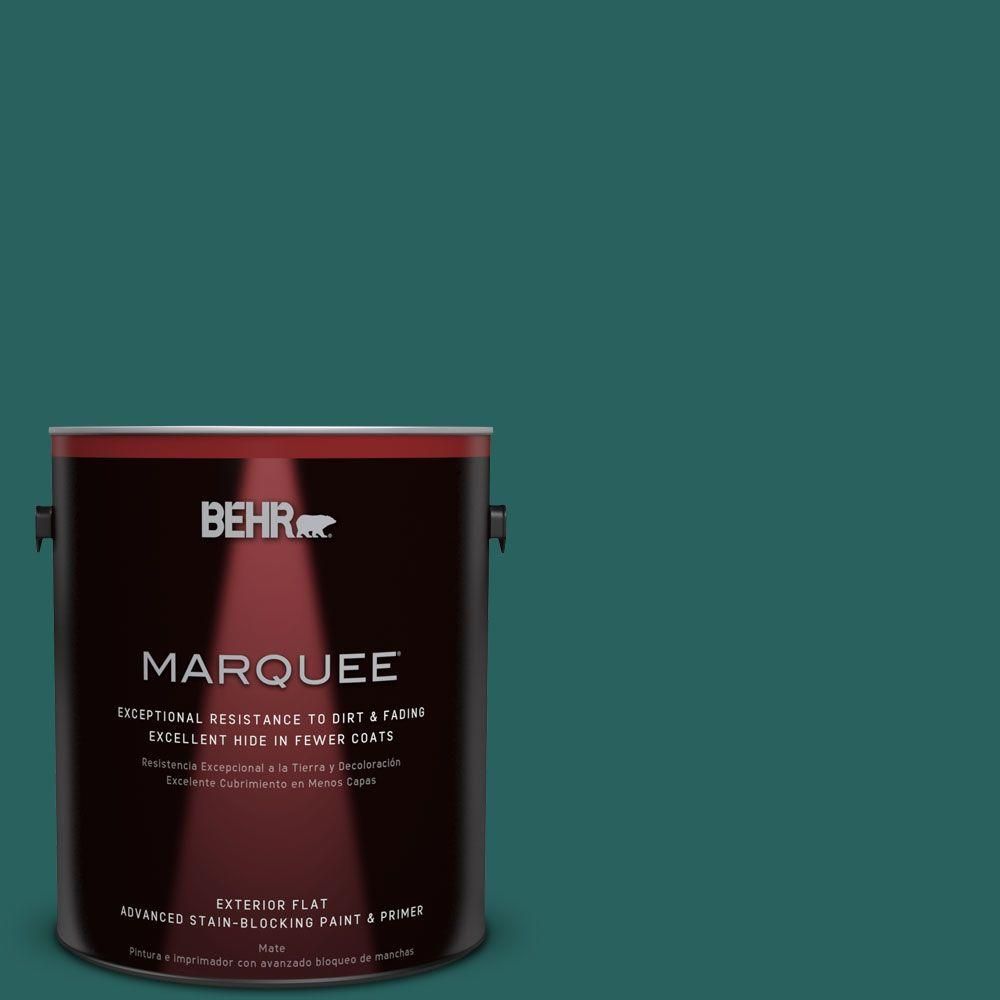 BEHR MARQUEE 1 gal. #MQ6-5 Verdant Forest Flat Exterior Paint-445301 -