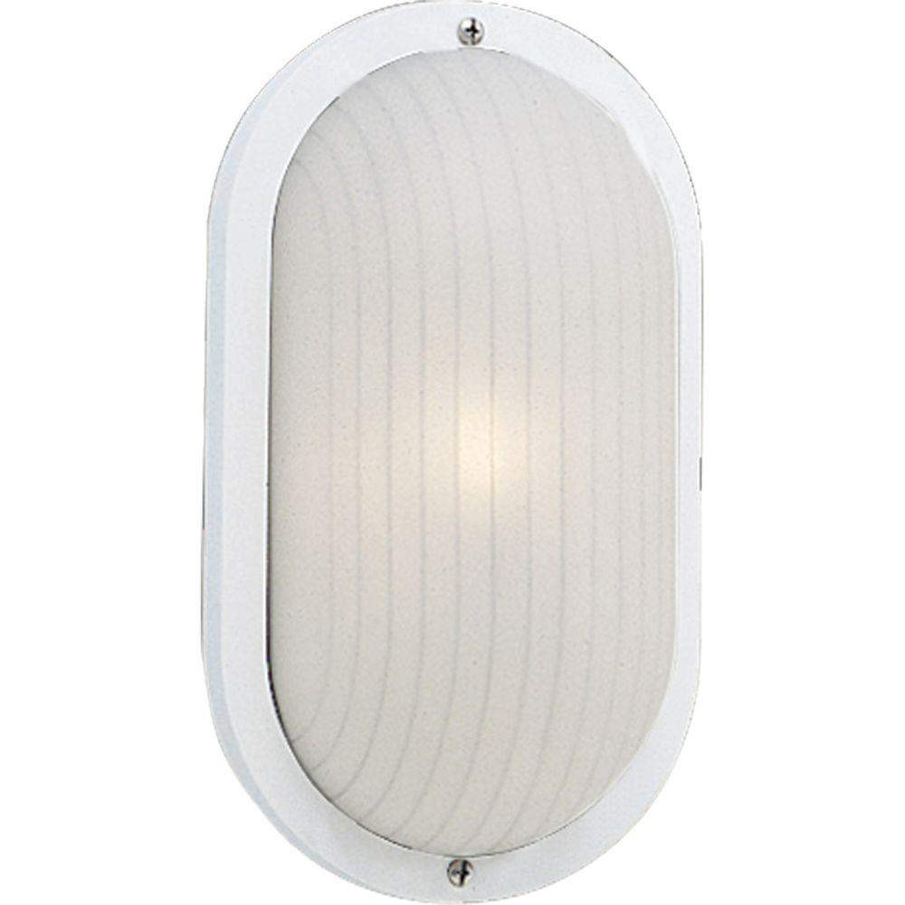 Progress Lighting White Outdoor Wall Lantern-P5704-30 - The Home Depot