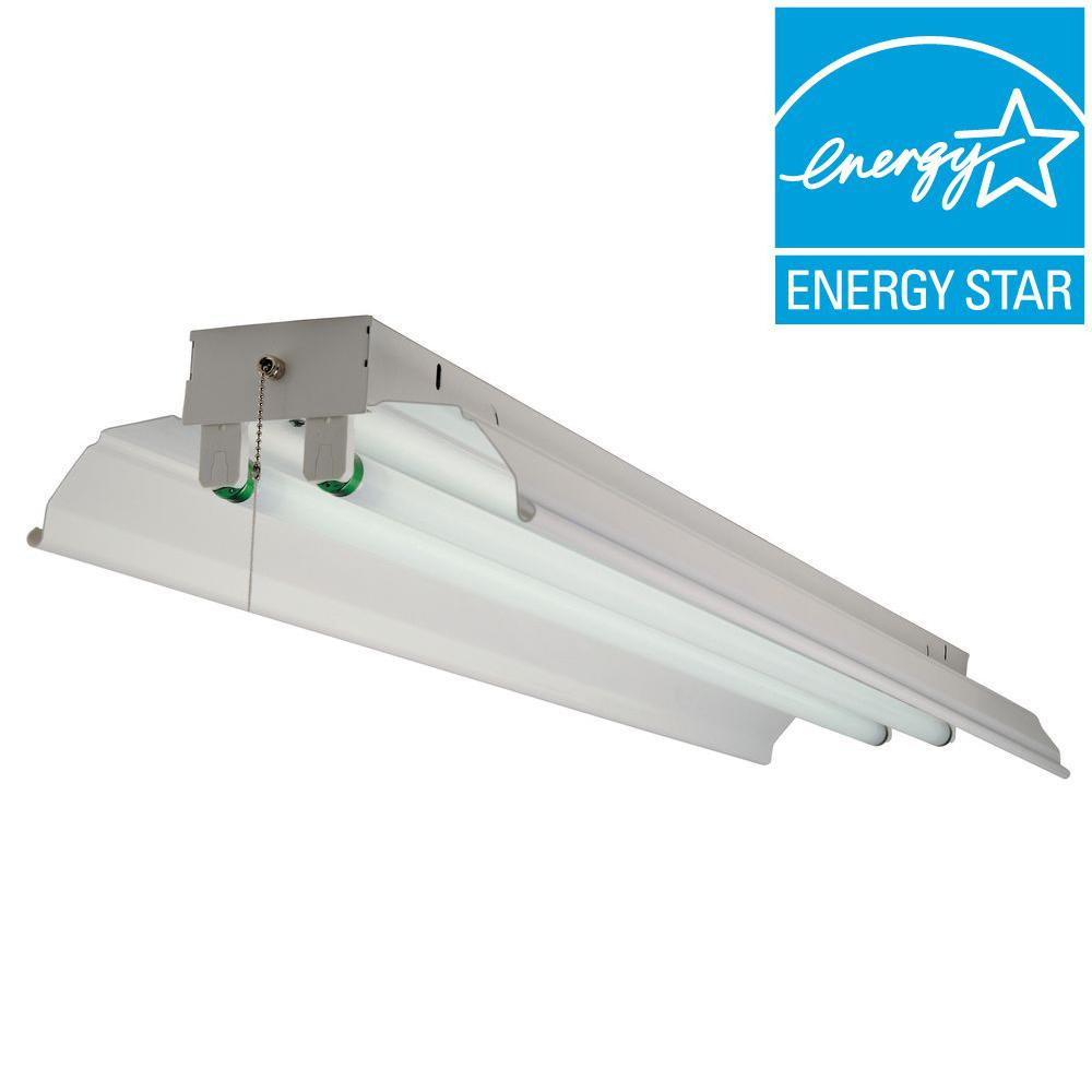 Commercial Electric 2-Light Fluorescent Shop Light-DISCONTINUED