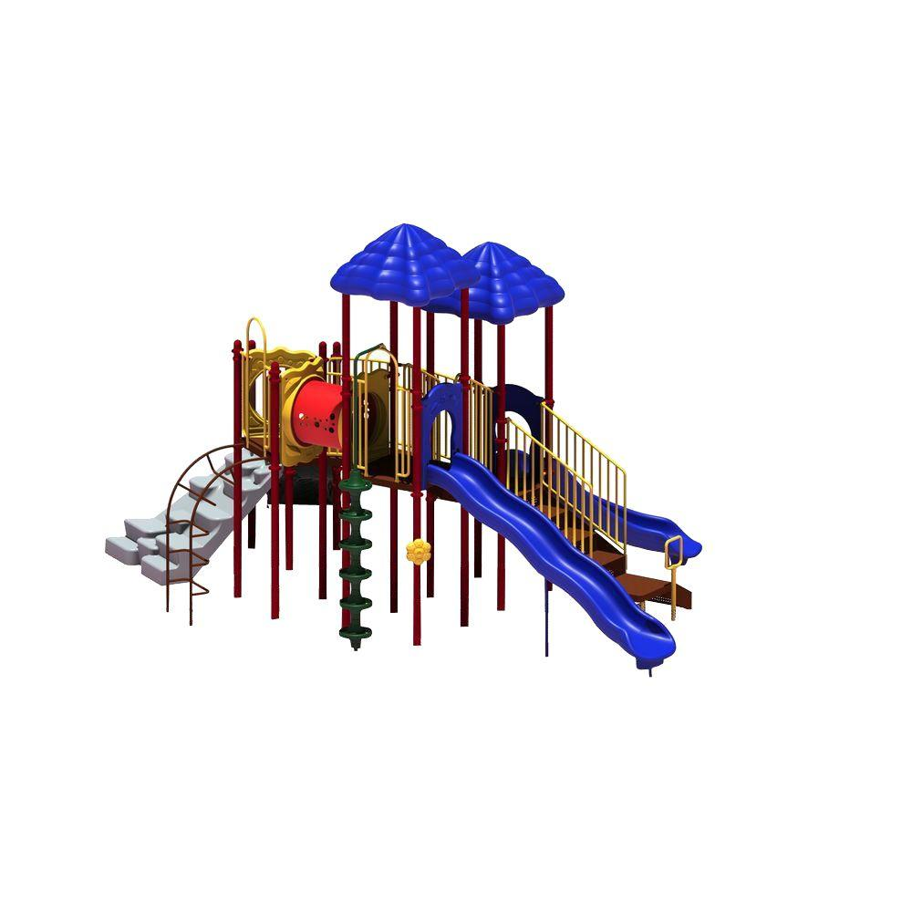 UPlay Today Clingman's Dome (Playful) Commercial Playset with Ground Spike