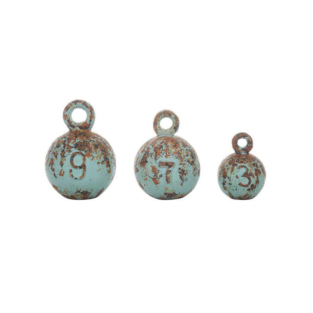 Home Decorators Collection 4.5 in. W Turquoise Weight Set (Set of 3)