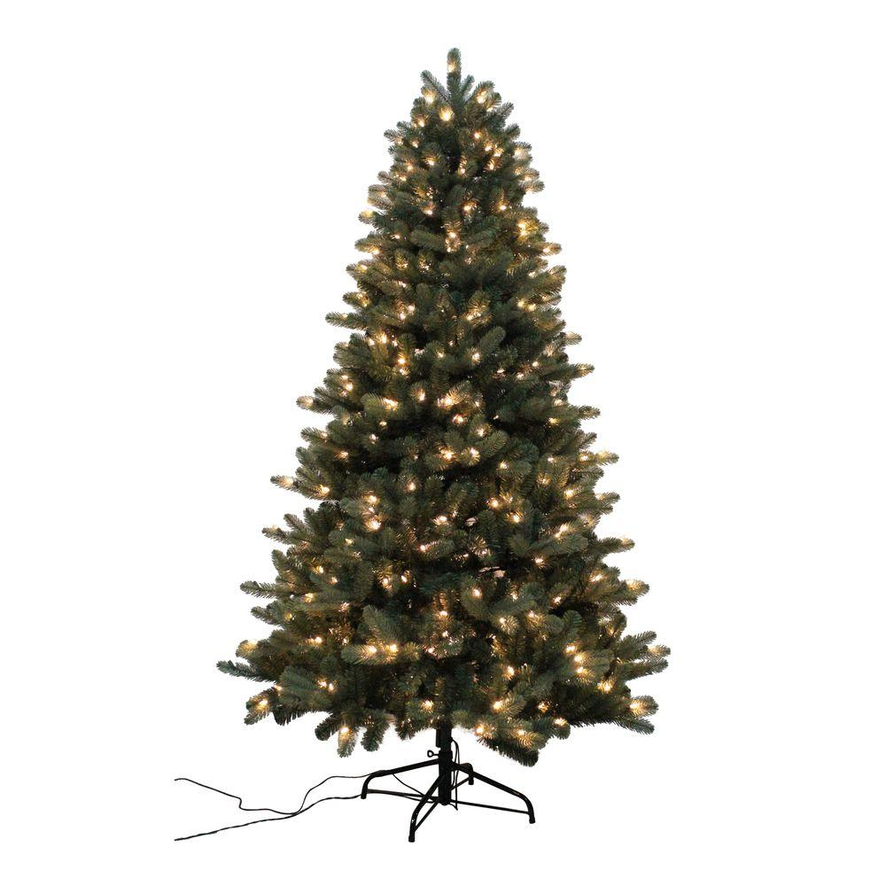 Home Accents Holiday 7.5 ft. Blue Spruce Elegant Twinkle ...