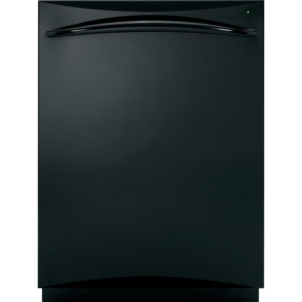 GE Profile Top Control Dishwasher in Black with Stainless Steel Tub and Steam Cleaning