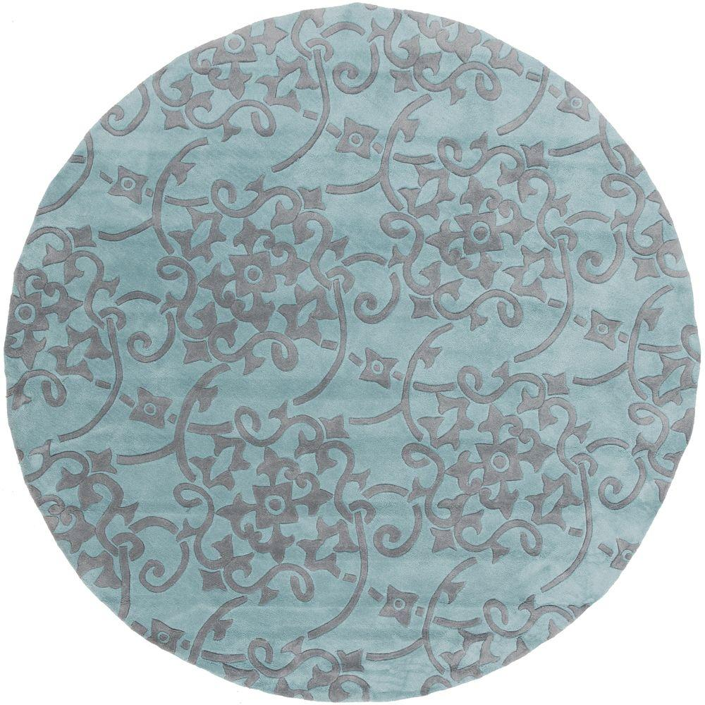 Artistic Weavers Faircrest Teal 8 Ft. X 8 Ft. Round Indoor