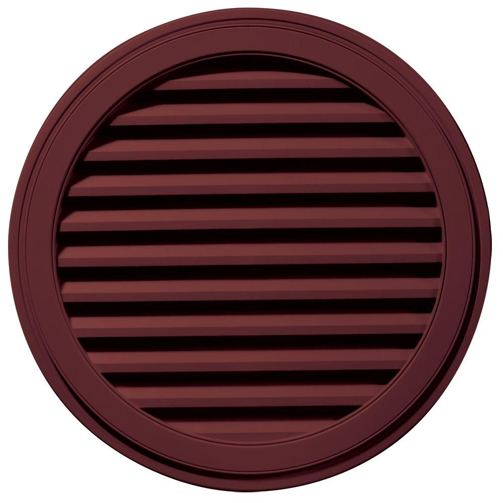 Builders Edge 36 in. Round Gable Vent in Wineberry