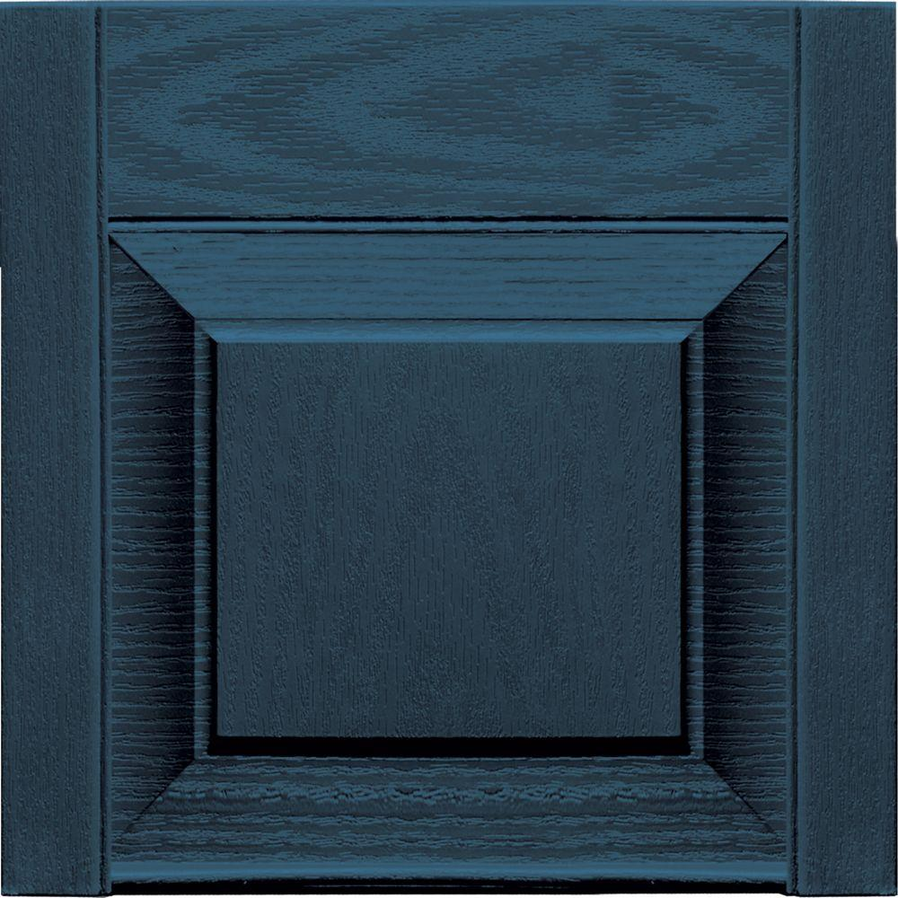 Builders Edge 12 in. x 12 in. Raised Panel Design Classic Blue Transom Tops Pair #036-DISCONTINUED