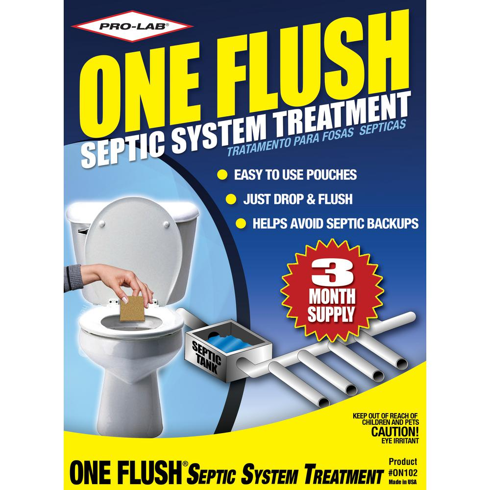PRO-LAB One Flush Septic Treatment 3 Month Supply
