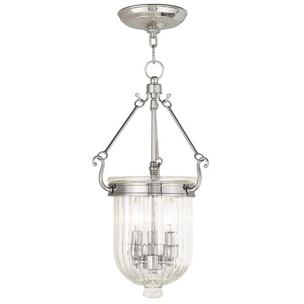 Coventry 3-Light Polished Nickel Pendant
