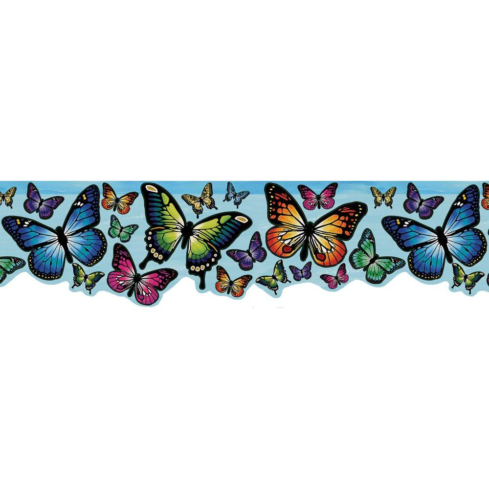 null 6 in. W x 10 in. H Magic Blue Butterfly Border Sample-DISCONTINUED