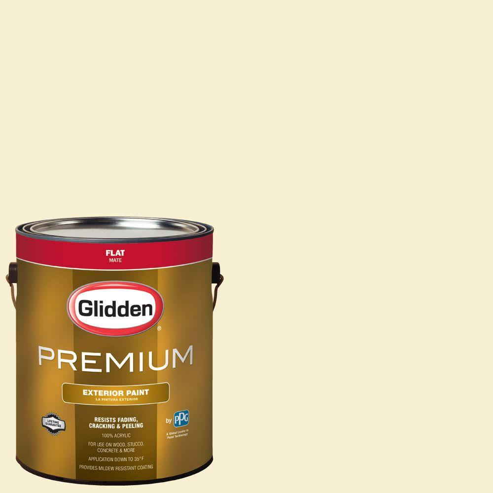 1-gal. #HDGY57 Spring Pear White Flat Latex Exterior Paint