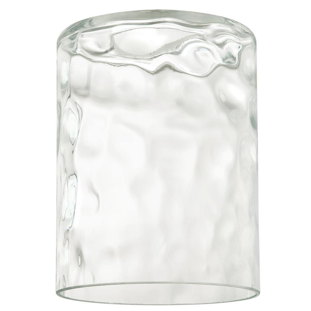 5-1/4 in. Clear Hammered Cylinder Shade with 2-1/4 in. Fitter and