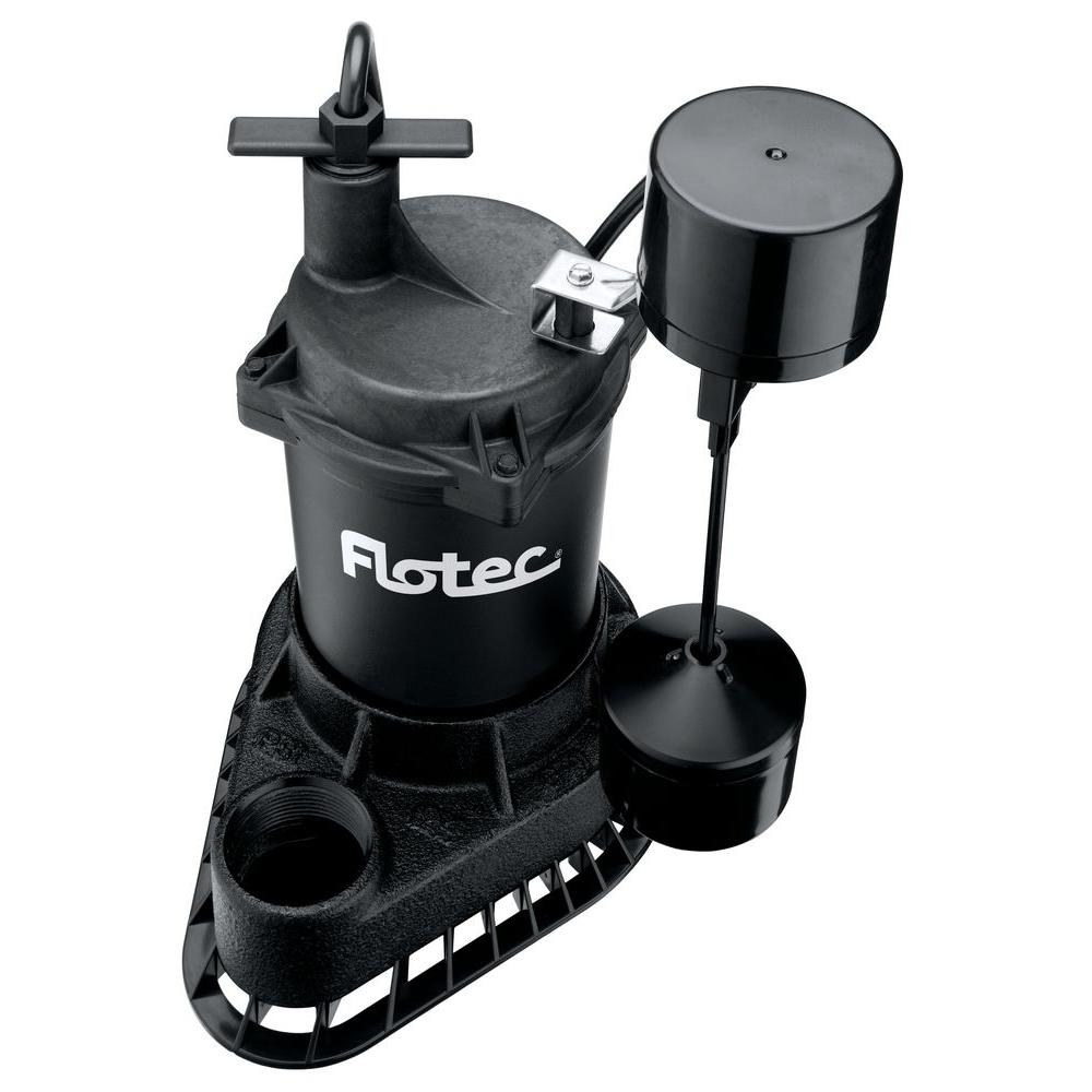 Flotec 1/2 HP Cast Iron Sump with Vertical Switch
