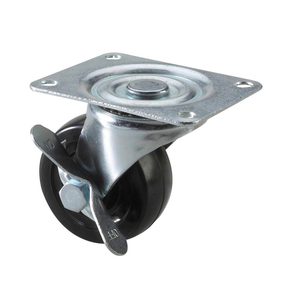 Richelieu Hardware General Duty Caster 100 kg - Swivel with Brake - 3 In.-DISCONTINUED
